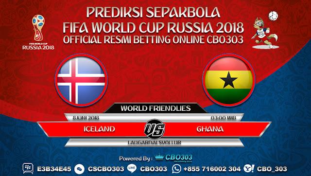 Prediksi Bola Iceland VS Ghana 08 Juni 2018