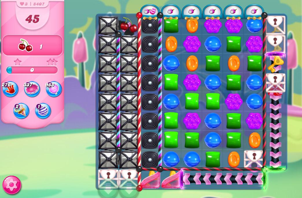 Candy Crush Saga level 8407
