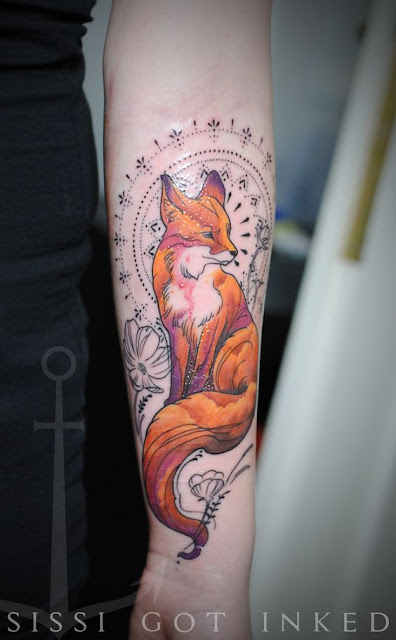 Breathing Fox Tattoo Designs