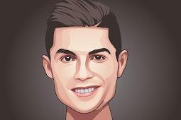 Tutorial Vector masking wajah Ronaldo di Infinite Design dengan mudah