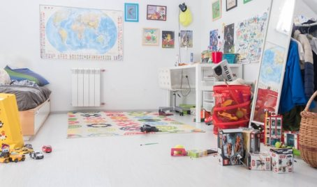 A kids room that's been designed to inspire learning.