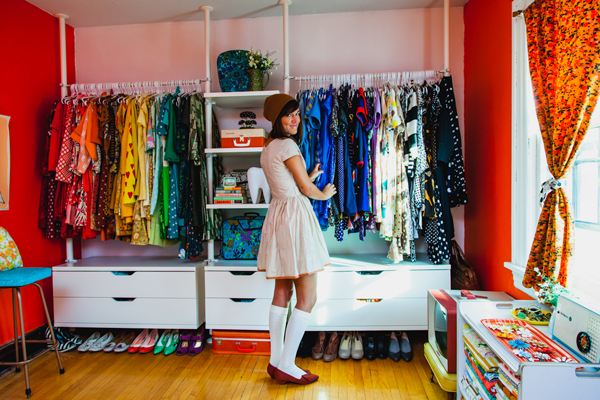 Oh so lovely vintage my closet work room was featured on for My retro closet