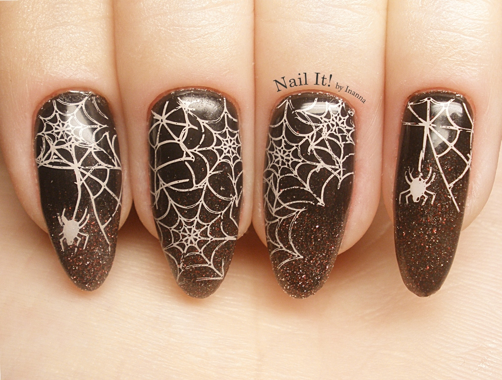 "It's Halloween time! - B. Loves Plates ""B.09. Spooky Halloween"" stamping plate REVIEW, SWATCH and NAIL ART"