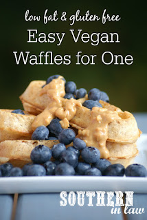 Easy Vegan Waffles Recipe for One - low fat, gluten free, sugar free, dairy free, egg free, vegan, clean eating recipe