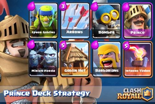 Strategi Deck Prince Untuk Arena 4 Keatas Clash Royale