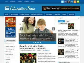 EducationTime blogger template