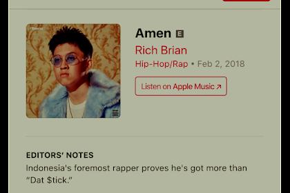 Sehari Setelah Diluncurkan Album Amen Milik Rich Brian Menduduki Chartz Nomor 1 Di Itunes