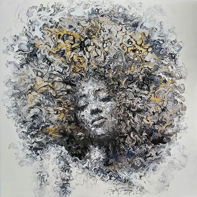 12-Acrylic-Portrait-Liz-Y-Ahmet-www-designstack-co