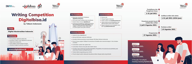 Lomba Menulis Artikel Digitalbisa.id Berhadiah Uang Tunai 10 Juta Rupiah oleh Telkom Indonesia