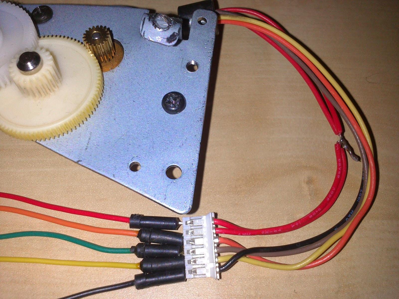 Motor paso a paso unipolar 6 cables