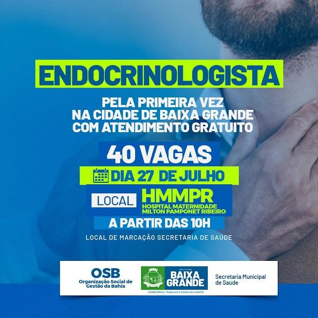 Prefeitura Municipal de Baixa Grande já vem ofertando serviços de especialidades médicas nunca realizadas no município