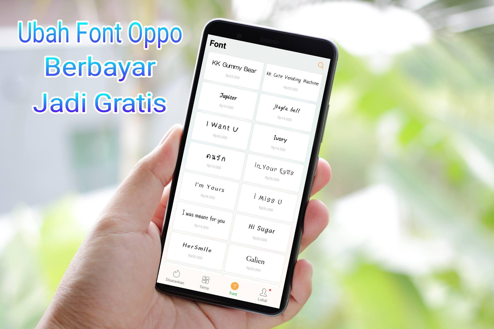 Cara Download Font Oppo Berbayar Jadi Gratis Dan Permanen