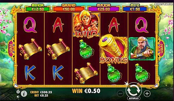 Main Gratis Slot Indonesia - Monkey Warrior (Pragmatic Play)