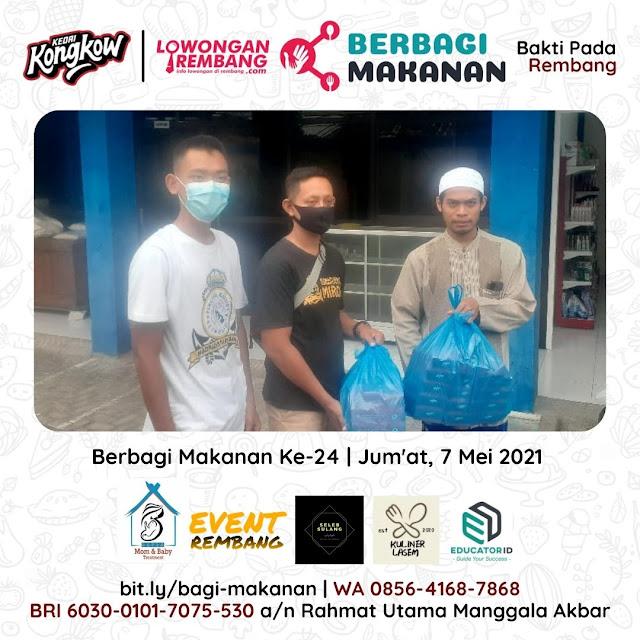 Dokumentasi Berbagi Makanan Ke-24 Dari Kedai Kongkow Rembang Dan Lowongan Rembang