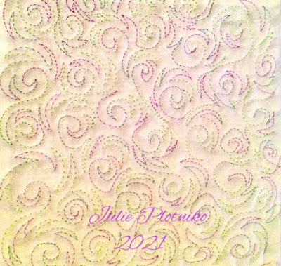 New free motion quilting design Swirling Winds by Julie Plotniko