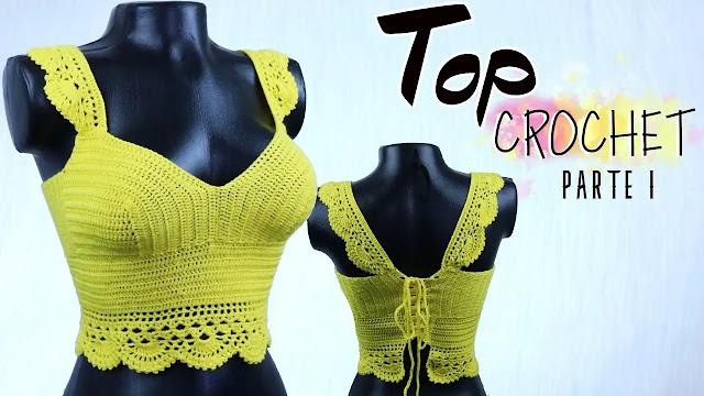 Tutorial de Crep Top Verde Básico a Crochet