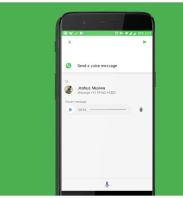 Send WhatsApp Voice Messages Without Opening WhatsApp