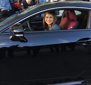 Picture of Katianna Stoermer Coleman's sister Zendaya sitting in a car