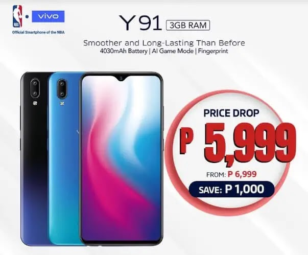 Vivo Y91 Now Only Php5,999