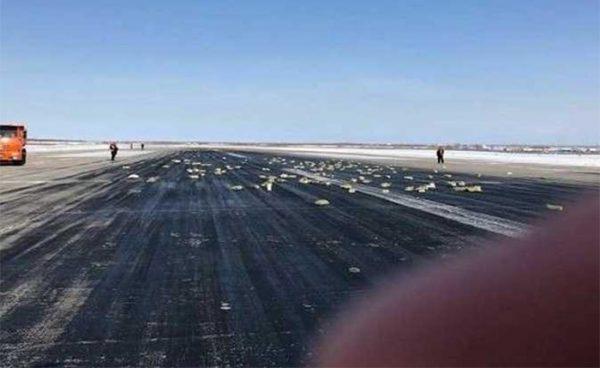 طائرة شحن روسية تمطر ذهبا !!!