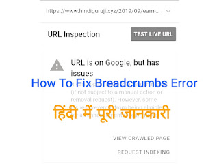 How to Fix Breadcrumbs Error in Hindi