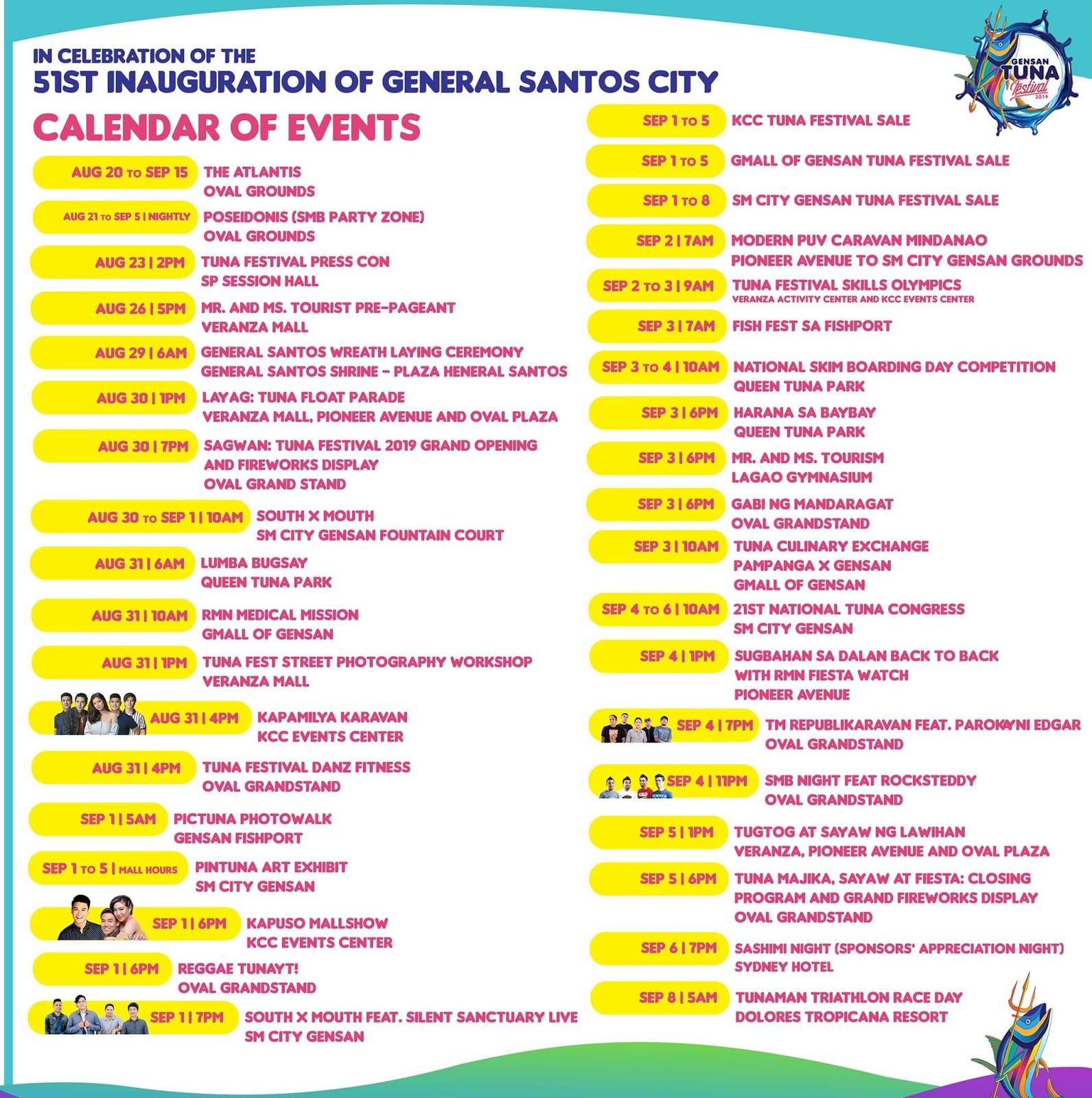 Tuna Festival 2019 Schedule