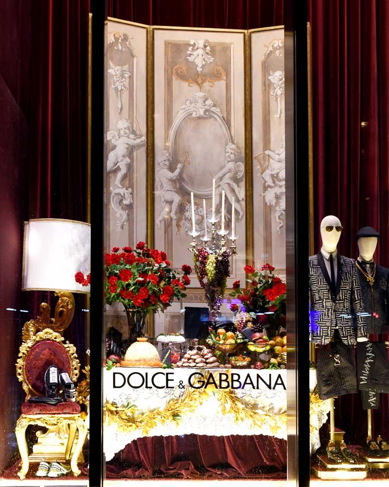 2018 New York Dolce and Gabbana Window Display