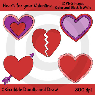 Valentine's day hearts clip art for free