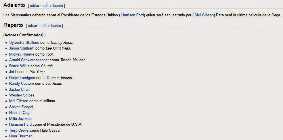 EXBlog  The EX3 Cast According to the Spanish Wikipedia  Updated! 81e5f188894d5