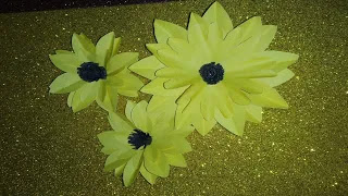 Easy and Beautiful DIY Paper Flowers | 🌞 Sunflower Paper Craft | DIY Home Decor | Craft ideas