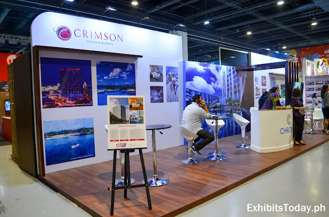 Crimson Hotel exhibit booth