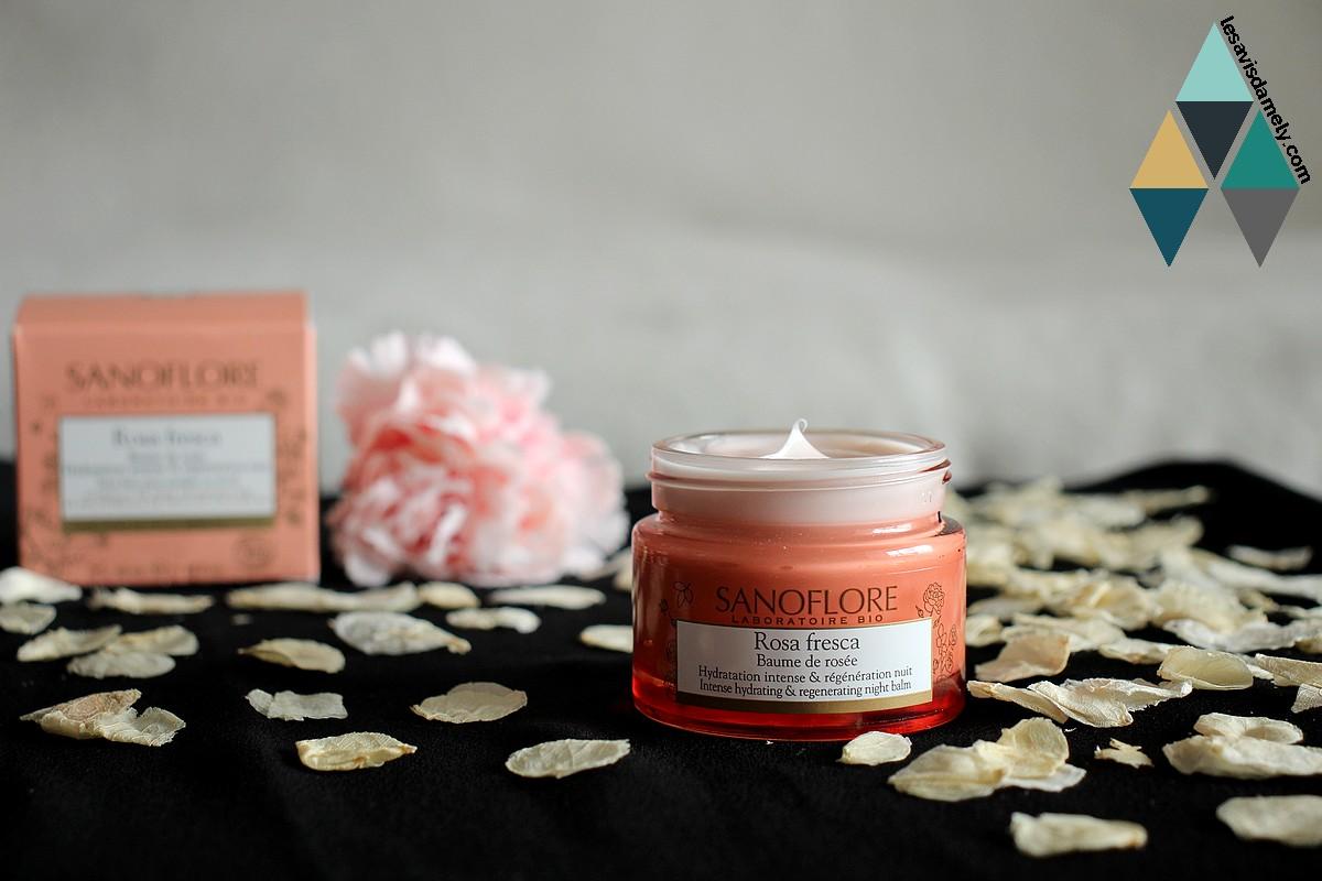 test crème hydratante de nuit à la rose naturelle et régénérante