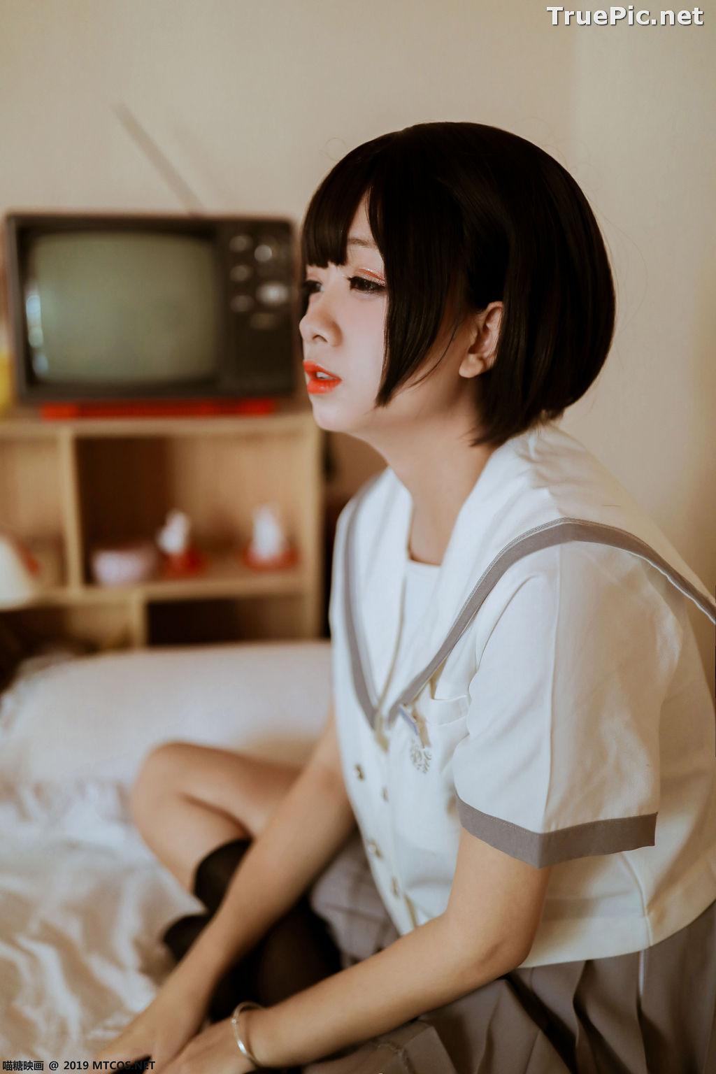 Image [MTCos] 喵糖映画 Vol.039 – Chinese Cute Model – Japanese School Uniform - TruePic.net - Picture-8