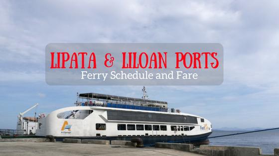 Lipata to Liloan ferry schedule