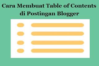 Cara Membuat Table of Contents di Postingan Blogger