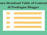 Cara Membuat Table of Contents Keren di Postingan Blogger