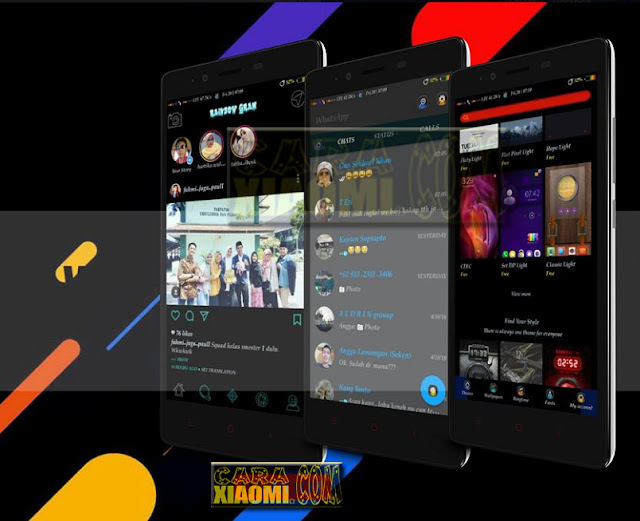 MIUI Thema Rainbow Mtz For Xiaomi V8 / V9 Theme Support Merubah Tampilan WhatsApp, Instagram and More