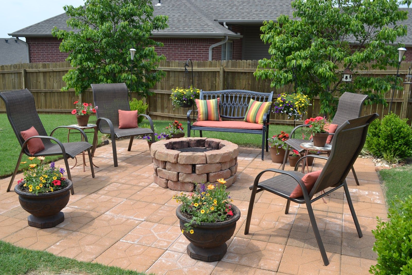 Chairs Around Fire Pit Kristen 39s Creations The Firepit Patio What A Difference