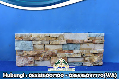 Wall Cladding Kombinasi Terbaru | Dinding Batu Alam
