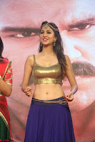 Malvika Raaj in Golden Choli and Skirt at Jayadev Pre Release Function 2017 ~  Exclusive 125.JPG