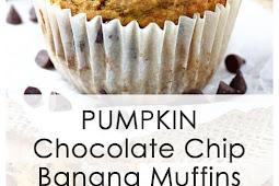 Pumpkin Chocolate Chip Banana Muffins