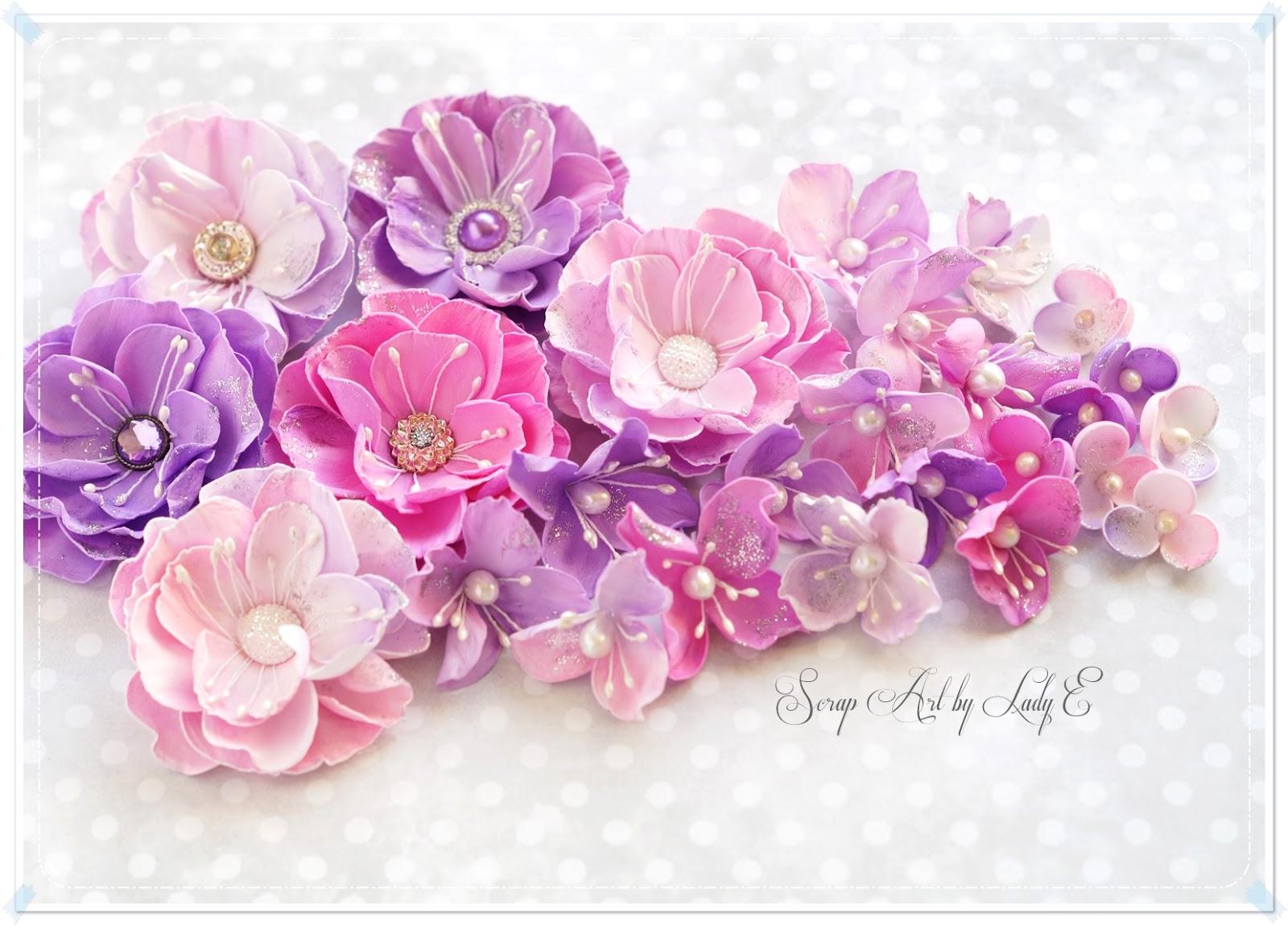 foamiran flowers birthday set kwiaty z foamiranu i komplet