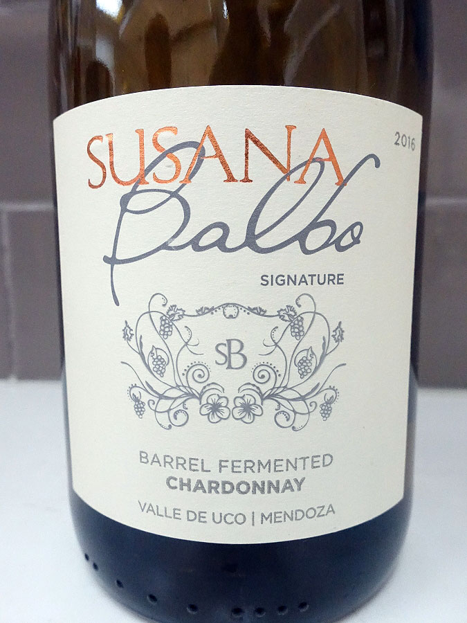 Susana Balbo Signature Barrel Fermented Chardonnay 2016 (89 pts)