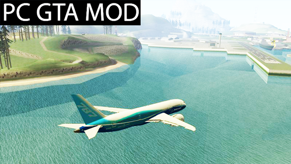 Free Download  Boeing 787-8  Mod for GTA San Andreas.