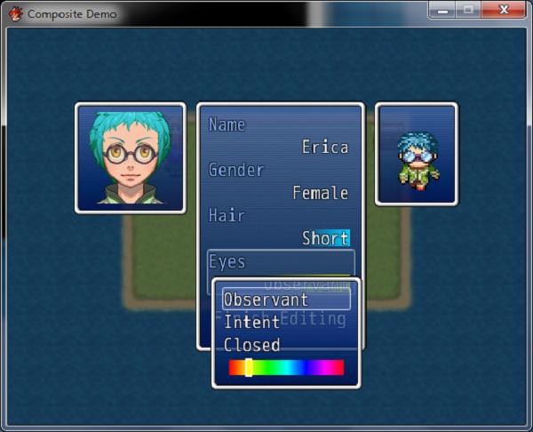 Make hairs, eyes etc using RPG Maker MZ