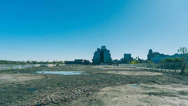 freshly demolished fuel oil depot work site