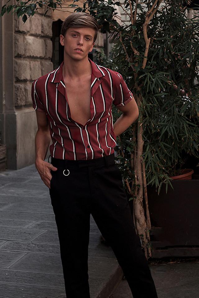 look masculino camisa listras verticais para réveillon 2019