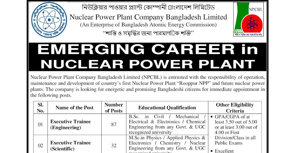 Mechanical Engineering: Nuclear Power Plant Company Bangladesh