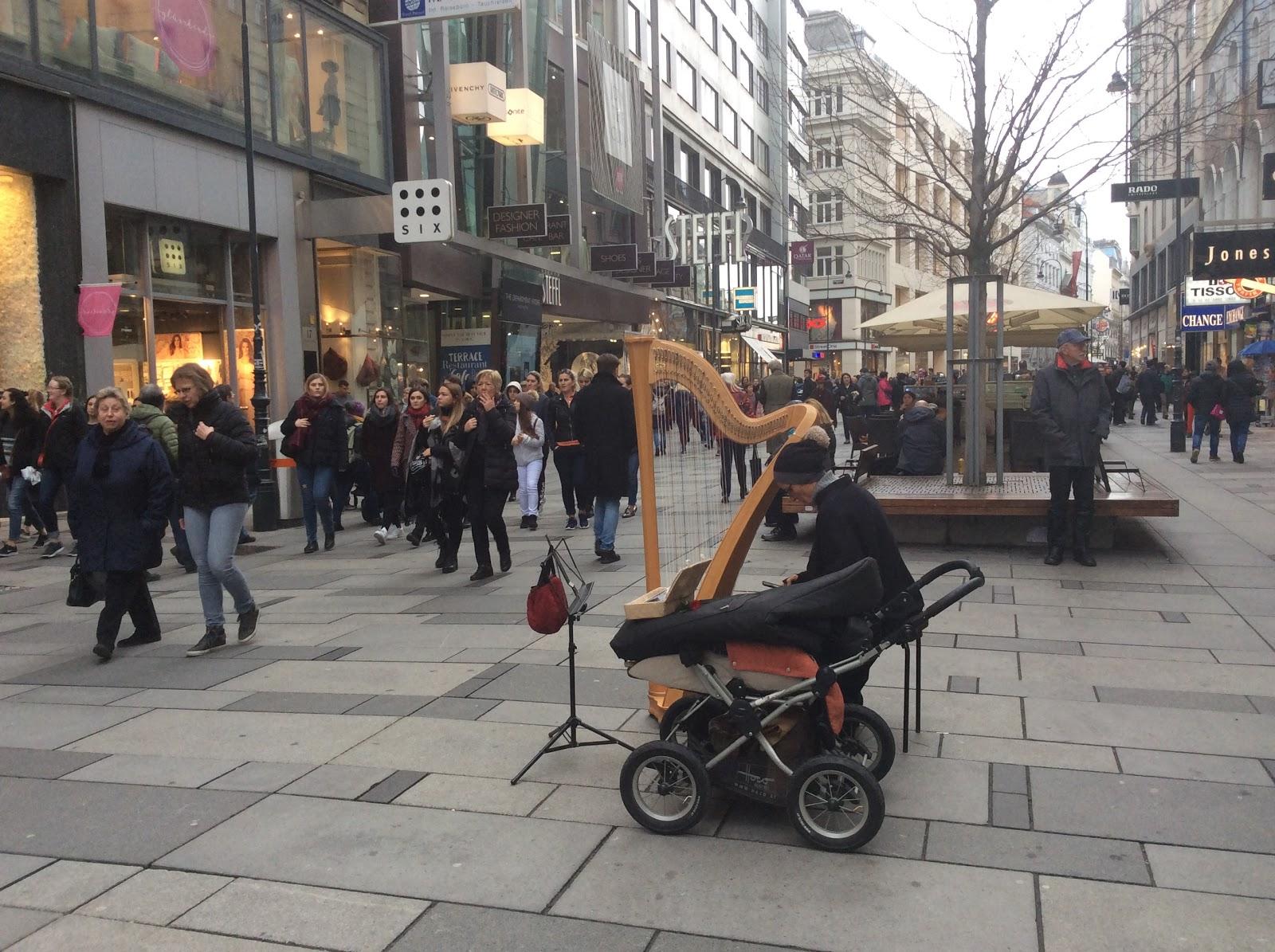 ウィーンの路上の表現者たち