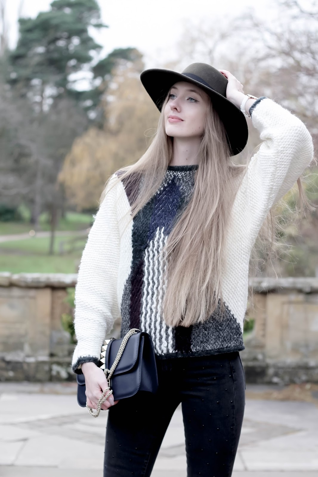 Fashion blog styling extra chunky knit Reiss Jemima Jumper